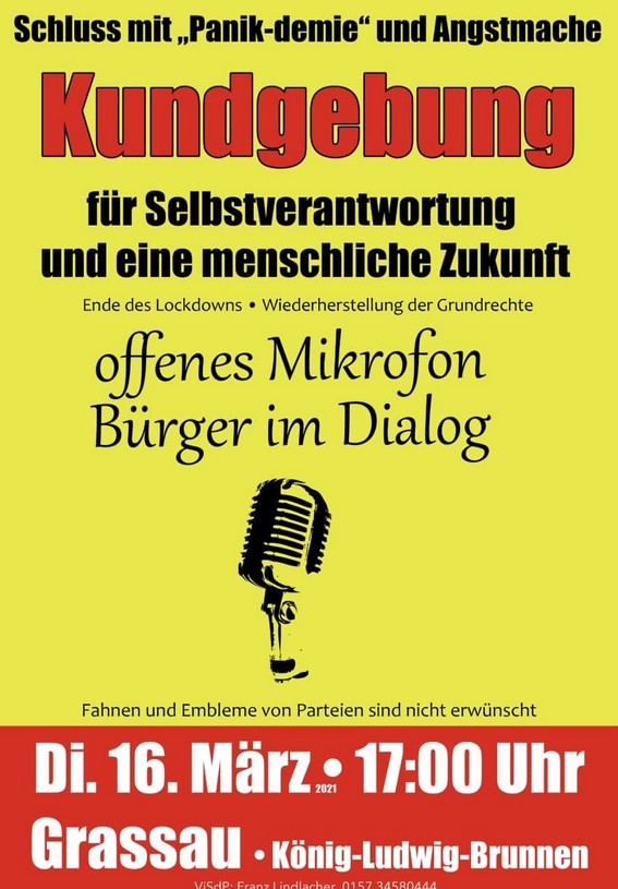 Grassau - offenes Mikrofon - Kundgebung