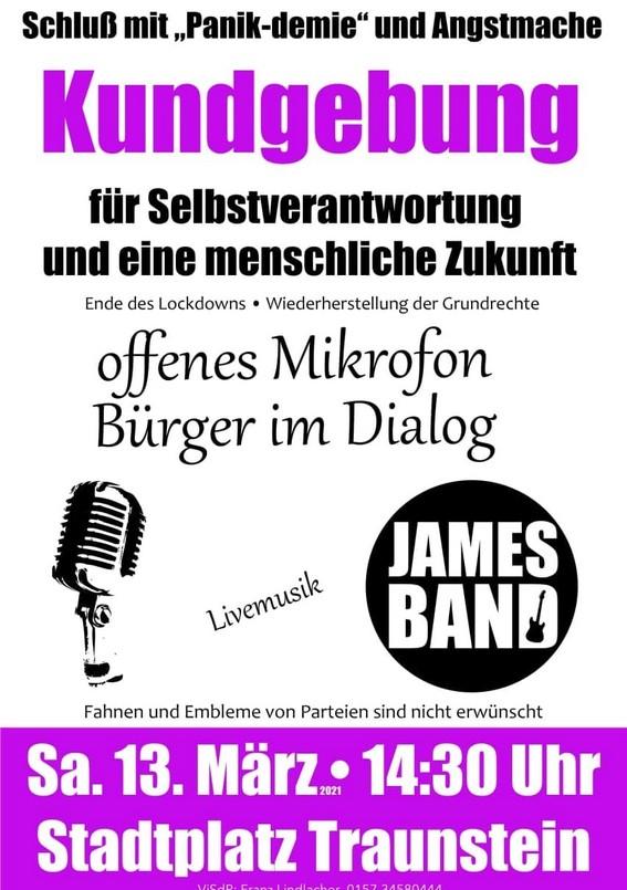 Kundgebung Traunstein 13.03