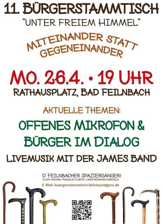 Bürgerstammtisch Bad Feilnbach 26.04.2021