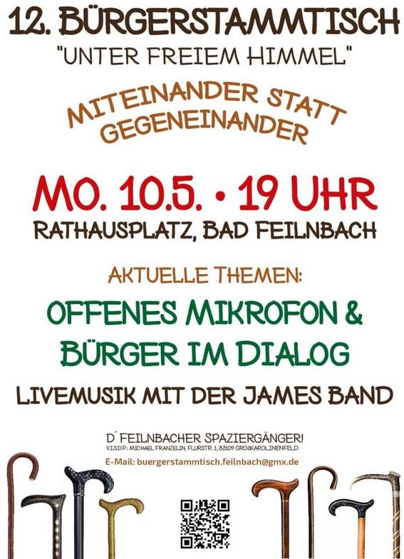 Bürgerstammtisch Bad Feilnbach 10.05.2021