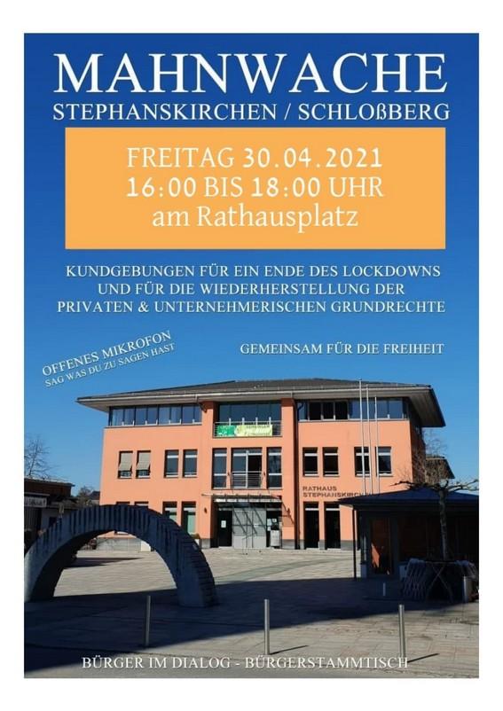 Mahnwache Stephanskirchen