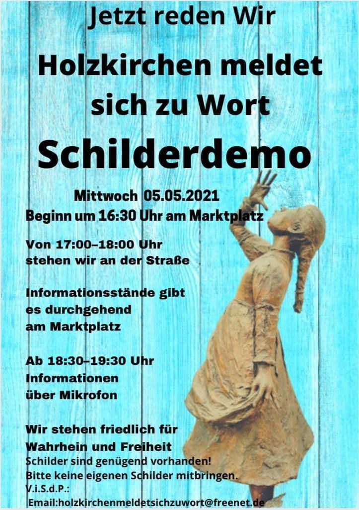Schilderdemo Holzkirchen 05.05.2021