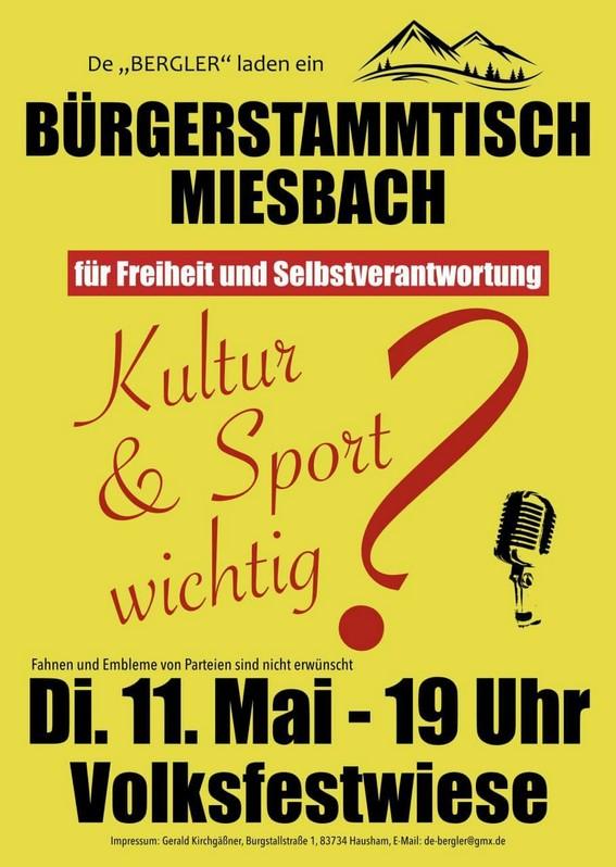 Bürgerstammtisch Miesbach 11.05.2021