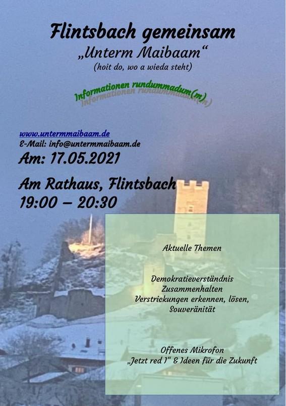 Flintsbach - gemeinsam unterm Maibaam 17.05.2021