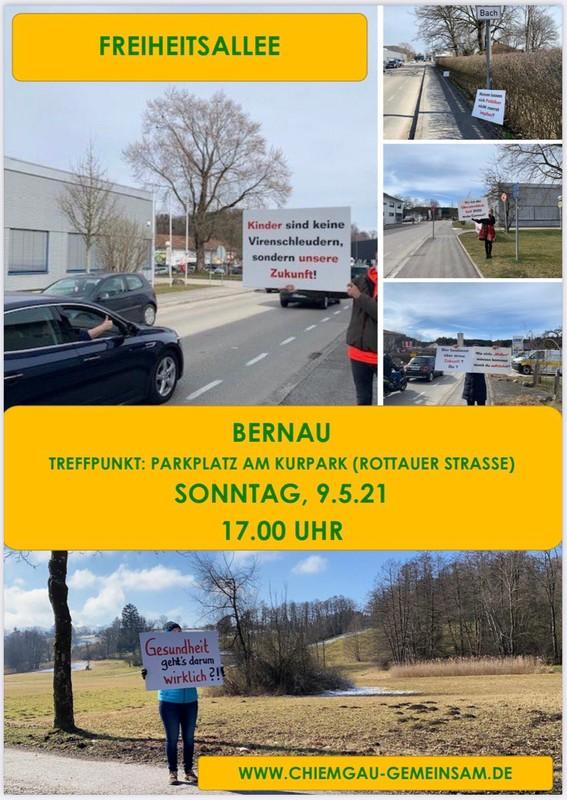 Schilderaktion Bernau