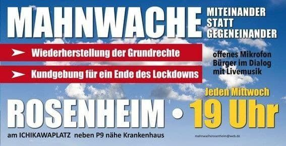 Mahnwache Rosenheim