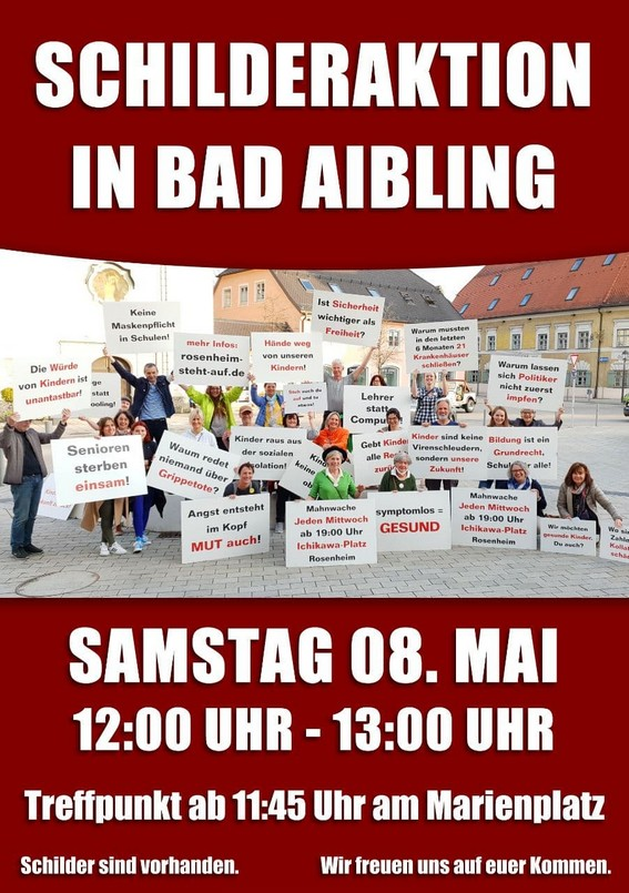 Schilderaktion Bad Aibling 08.05.2021