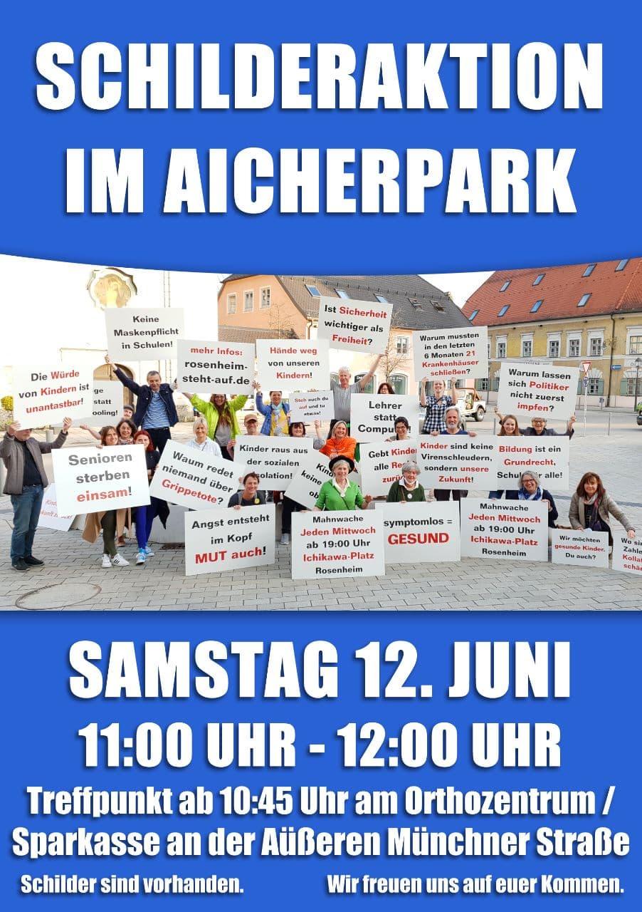 Schilderaktion Aicherpark 12. Juni 2021
